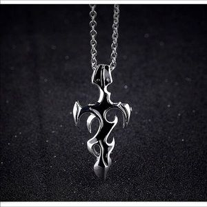 Accessories - CHINESE-STYLE SWORD SYMBOL CROSS & CHAIN